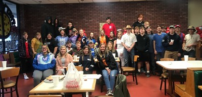 CCHS seniors who are transition ready enjoyed a Halloween party at Major's Pizza!
