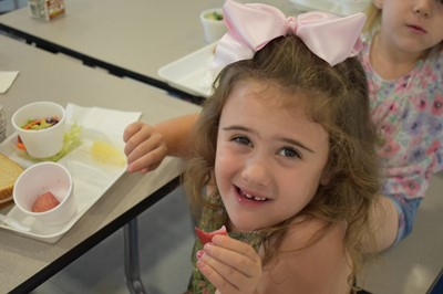 "The first""Try Day"" of the school year was on Tuesday, August 28th, when the featured foods were rainbow kale salad and plums."