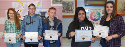 "Mailee Boils, James Smith, Quentin Fulton, Jessica Reyes, and Kristen Branham will have their artwork featured in the VSA Kentucky Student Traveling Art Exhibit, ""A Matter of Perspective."""