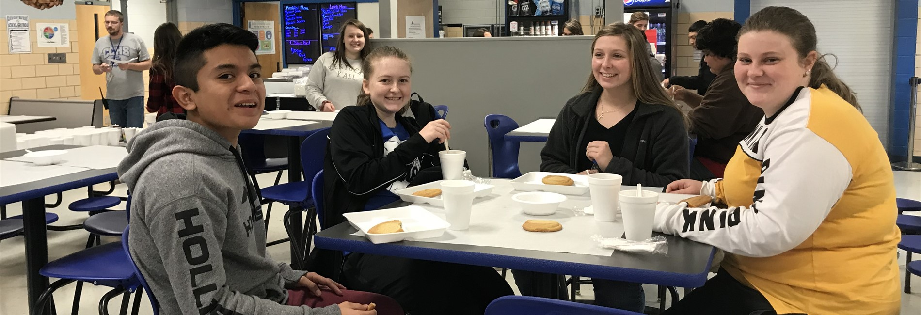 Students at CCHS who had perfect attendance for the month of November were rewarded with a hot chocolate and cookie decorating party.