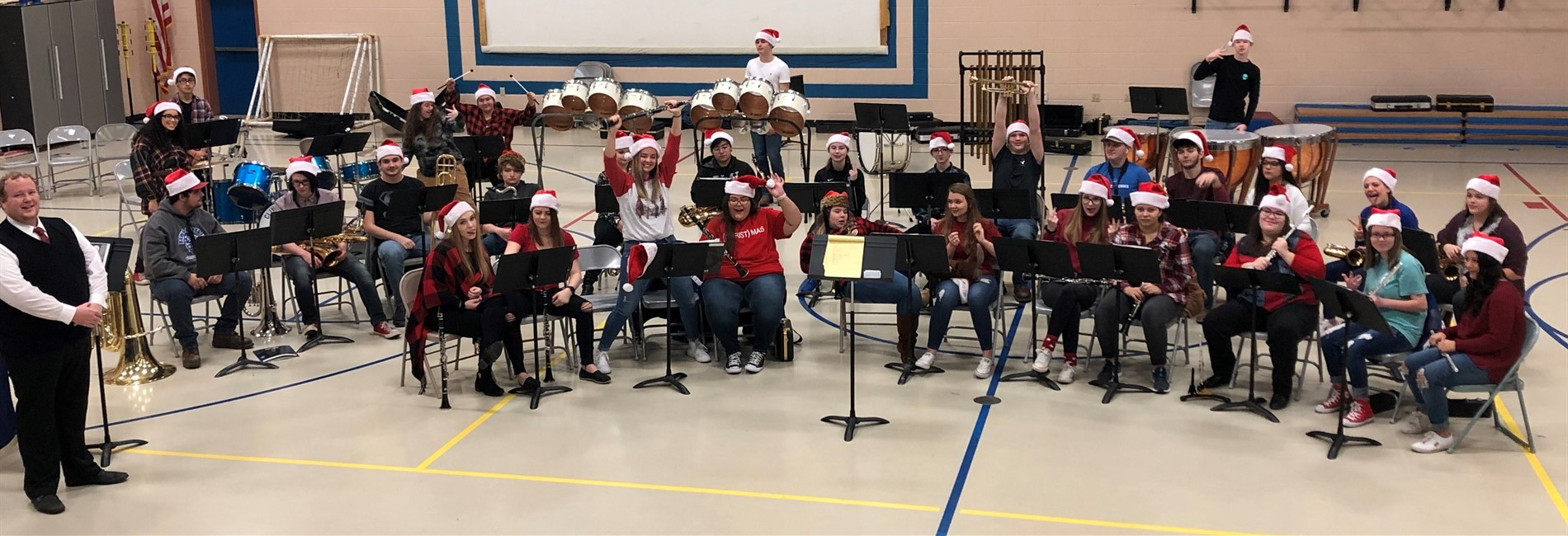 The Clinton County High School Band visited ECC, AES, & CCMS performing their Christmas program.