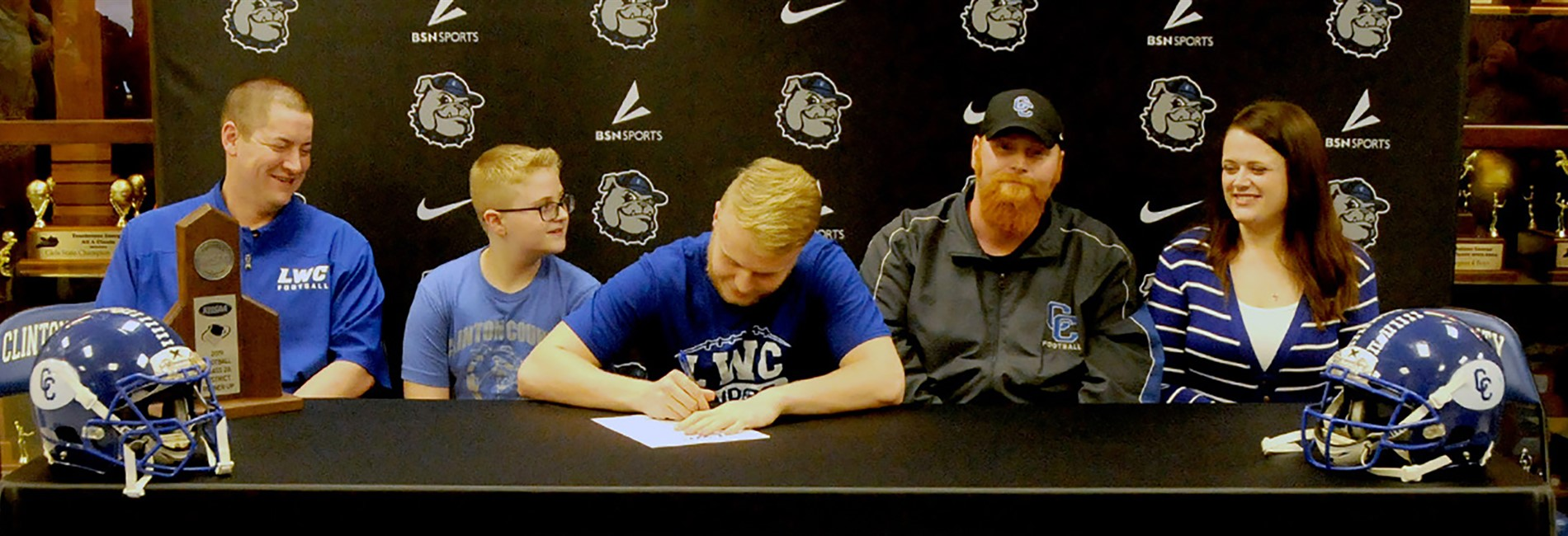 Congratulations to Parker Tallent on signing with Lindsey Wilson College!