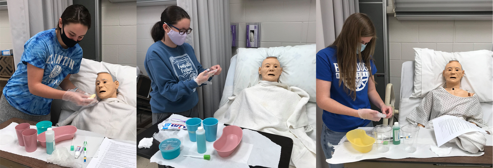SoKY ECCA Health Science students are taking advantage of small group instruction to earn dual credit lab hours and to prepare for Industry Certification credentials.