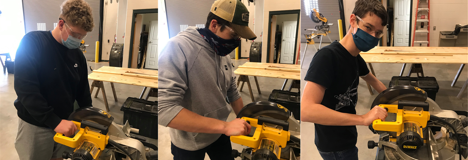 SoKY ECCA Carpentry students work in the shop and gain hands-on experience.