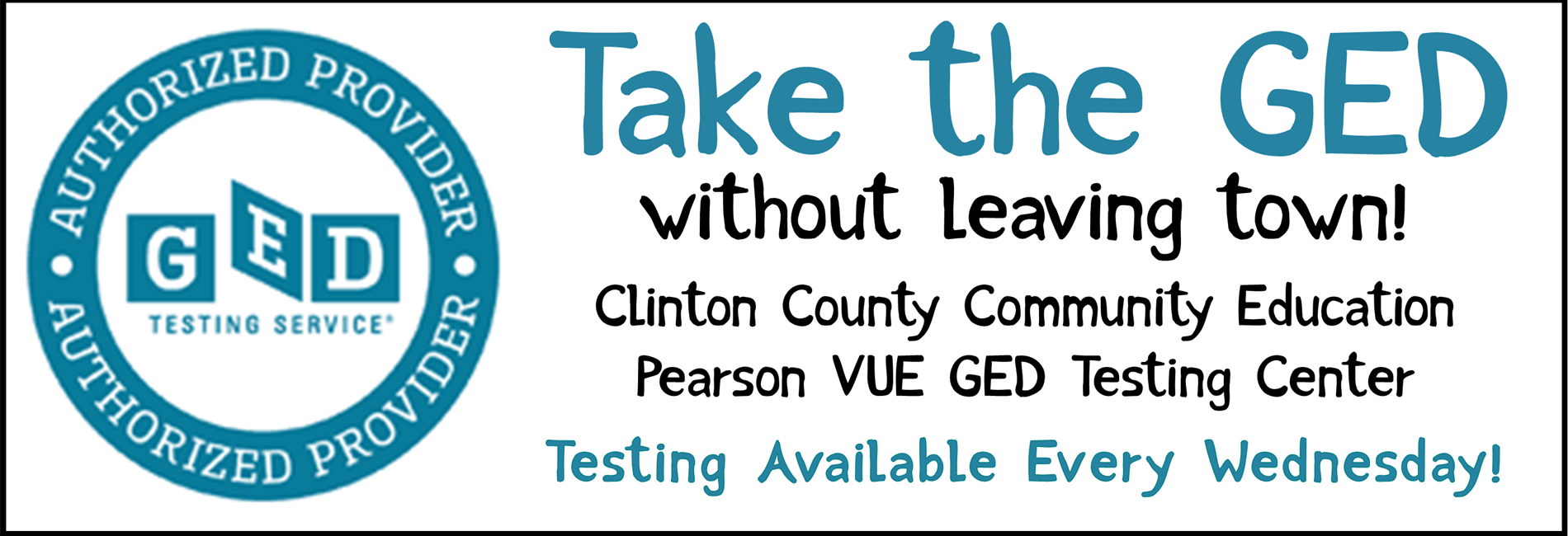 GED Testing Center ad