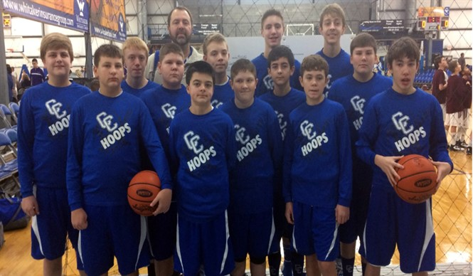 7th Grade Boys Basketball Team competes at State Tournament.