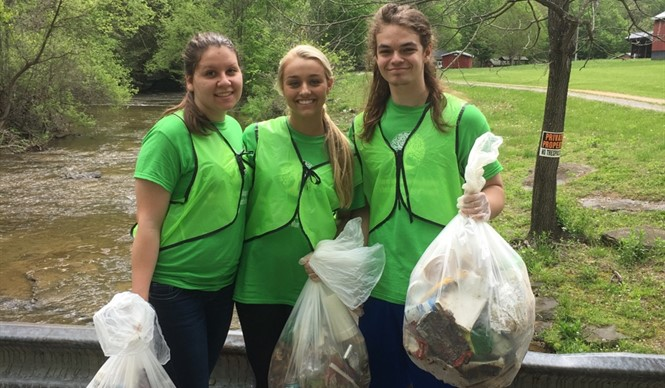 CCHS juniors celebrate Earth Day 2017.