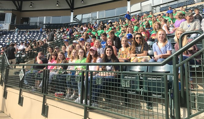 CCHS Gifted & Talented students attend Lexington Legends  Game Day Education Program.