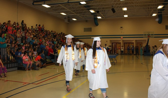 The CCHS graduating class of 2017 visited ECC and AES on the last day of school for their Senior Walk.