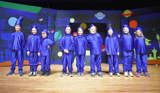 The Aliens of Blefuscu from Missoula Children's Theatre production of Gulliver's Travels.