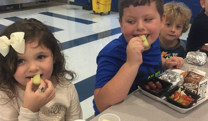 Students at ECC and AES enjoyed honeydew and yellow tomato on Try Day.
