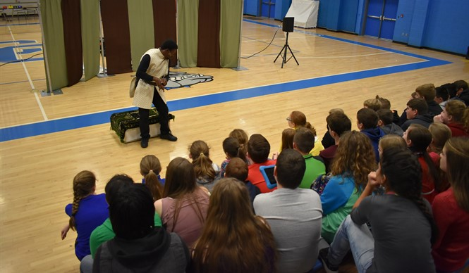 CCMS students participate in a Kentucky Shakespeare Outreach Program.