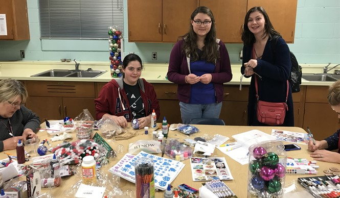 GEAR UP hosted an ornament decorating event for CCHS freshmen.