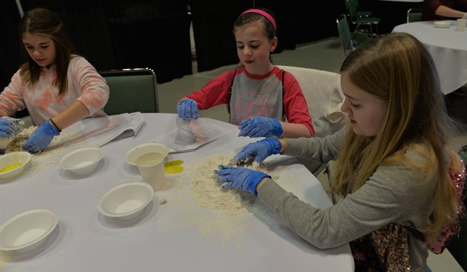 CCMS Gifted & Talented students design their own pizzas during a culinary arts program at The Center for Rural Development.