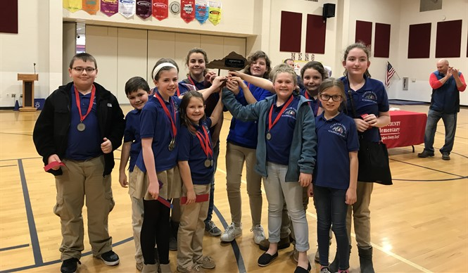 Elementary Academic Team is Runner-Up at District Governor's Cup!