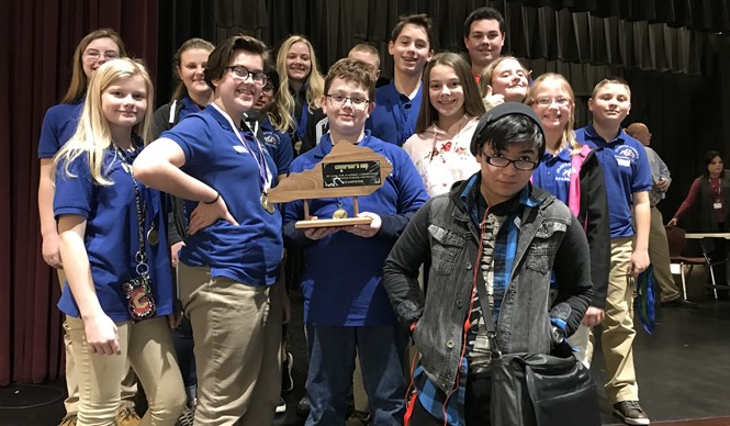 Middle School Academic Team WINS District Governor's Cup Competition!