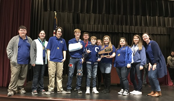 High School Academic Team WINS District Governor's Cup Competition!