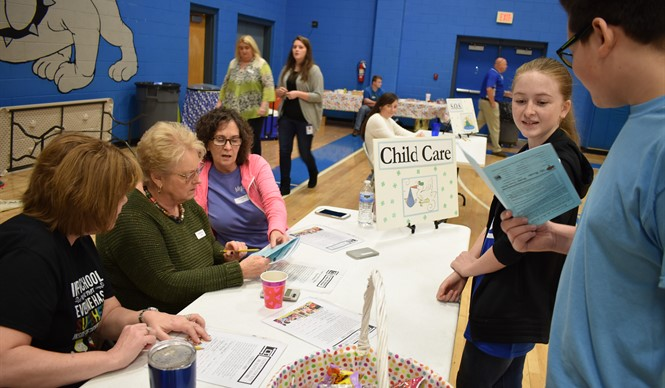 "Students got a taste of the ""Real World"" during Reality Town 2018 at Clinton County Middle School."