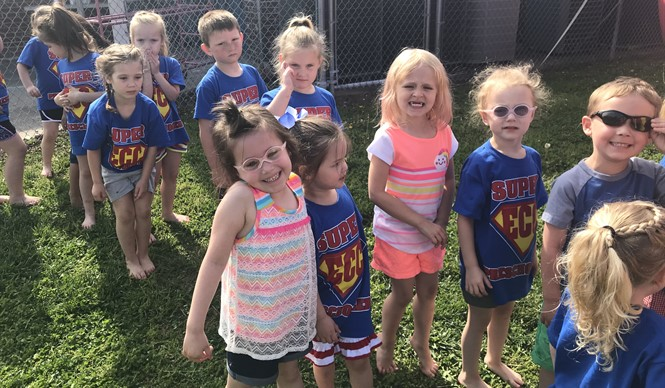 The preschool students at ECC celebrated their last day of school with a FUN DAY!