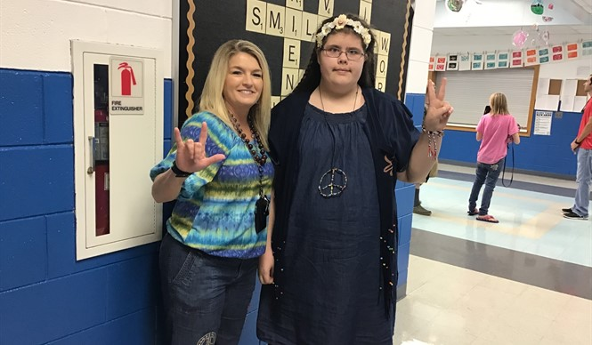 On High Attendance Day at CCMS, students enjoyed extra PE time and dressing up in iconic ensembles from their favorite decades.