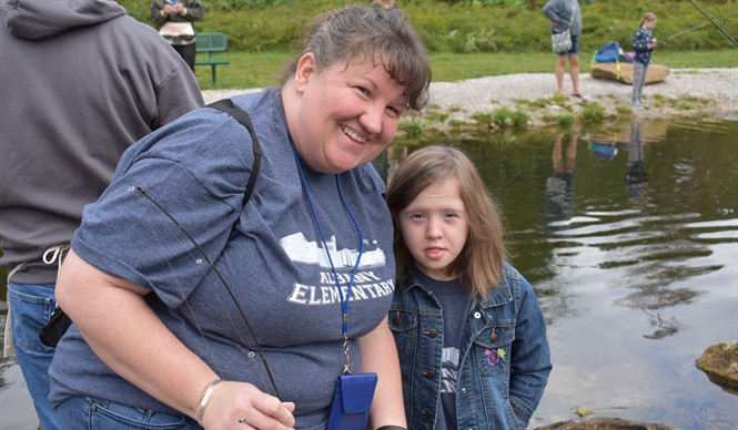Students enjoyed the 11th Annual Reaching for Rainbows Fishing Derby at Wolf Creek National Fish Hatchery.