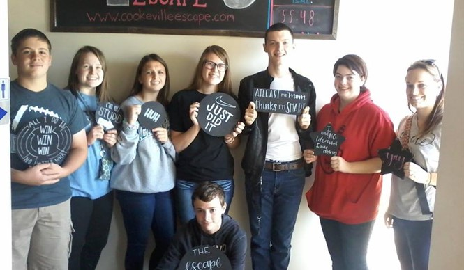 Gifted and talented students from CCHS tried to break out at Cookeville Escape.
