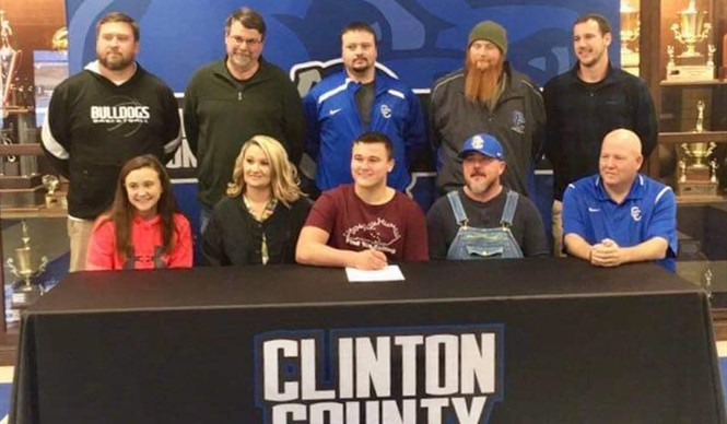 CCHS senior Noah Pruitt has signed with the Campbellsville University Tigers to play football after graduation.