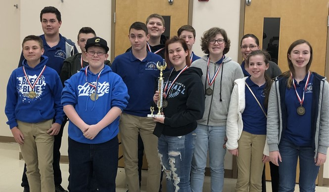 The CCMS Quick Recall Team won first place at Regional Governor's Cup and will advance to the state competition!