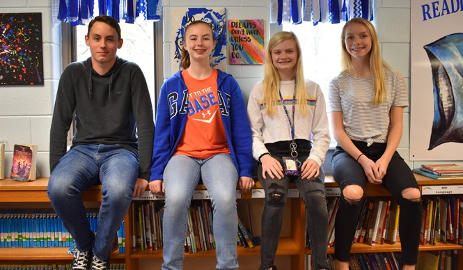 Evan Little, Loren Little, Ashton Daniels, and Sadie Moons were selected to be participants in the Rogers Explorers Program this summer.
