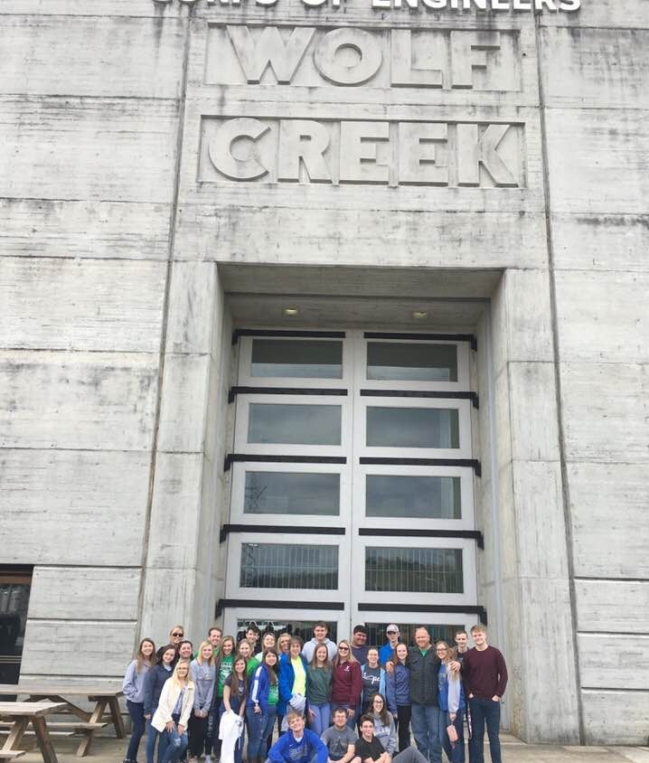 The CCHS 4-H Adventure Club visited Wolf Creek Dam and National Fish Hatchery on Monday, March 26th.