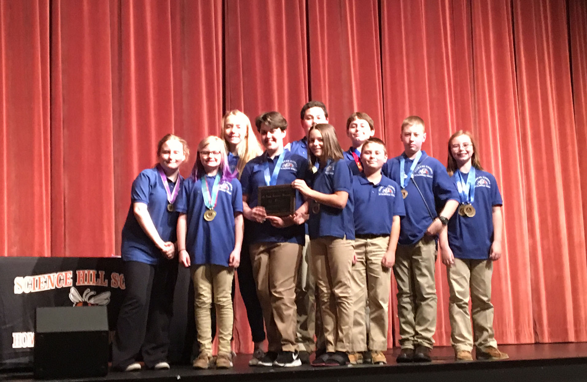 CCMS Academic Team wins the annual 6th Grade Showcase.