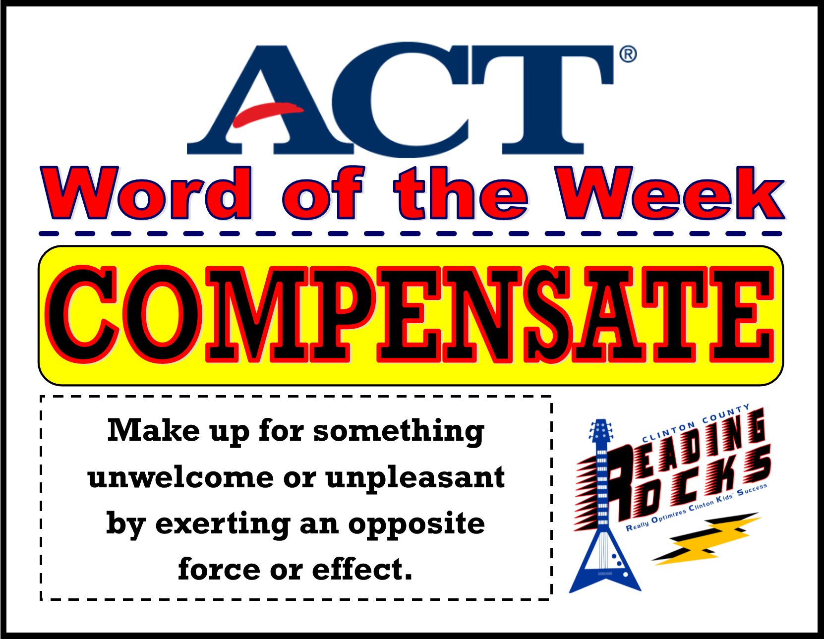 ACT Word of the Week - COMPENSATE