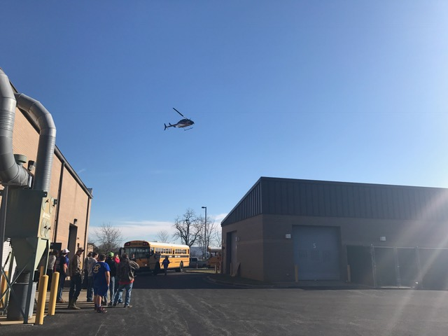 Air Evac Lifeteam visited Clinton County Area Technology Center and shared career opportunities with Health Science students.