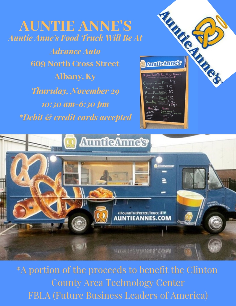 Auntie Anne's Fundraiser for FBLA