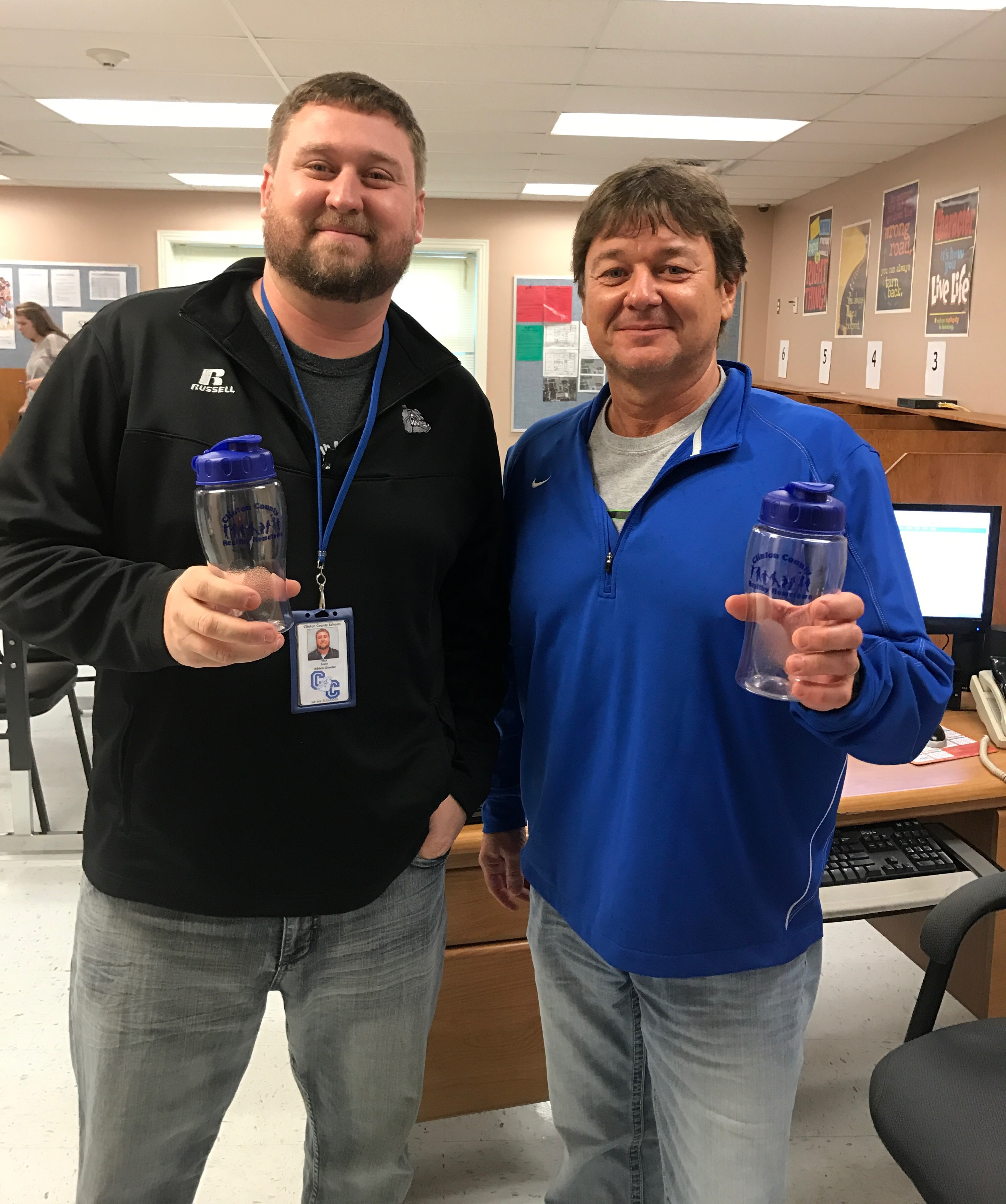 Clinton County Healthy Hometown recently awarded prizes to the faculty and staff Be Active Club members at ECC, AES, CCMS, and CCHS for the second 9-weeks.