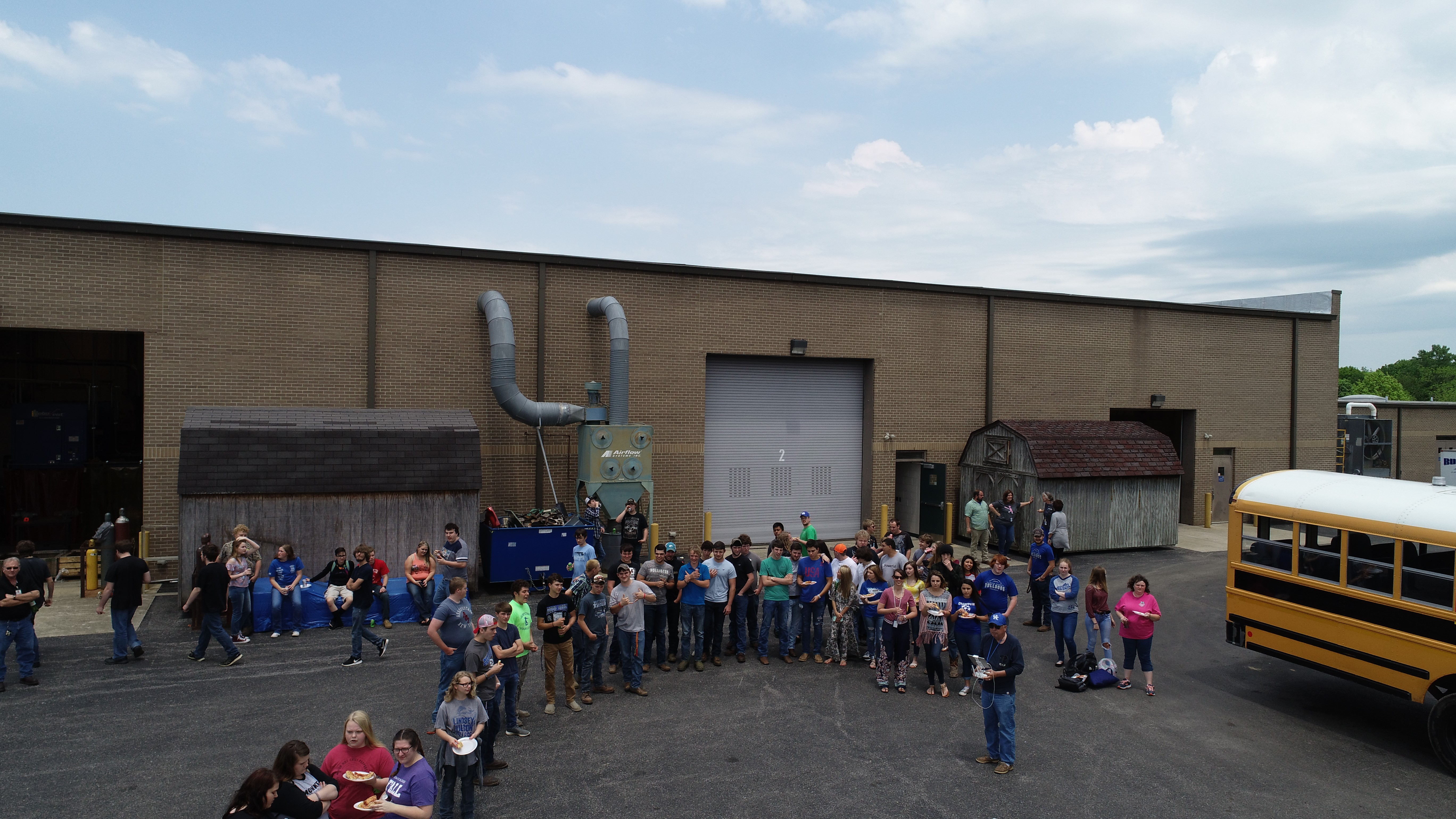A celebration with food, fun, and a drone demonstration by Rick Mercader was an excellent ending to the school year for the students and staff at Clinton County Area Technology Center.
