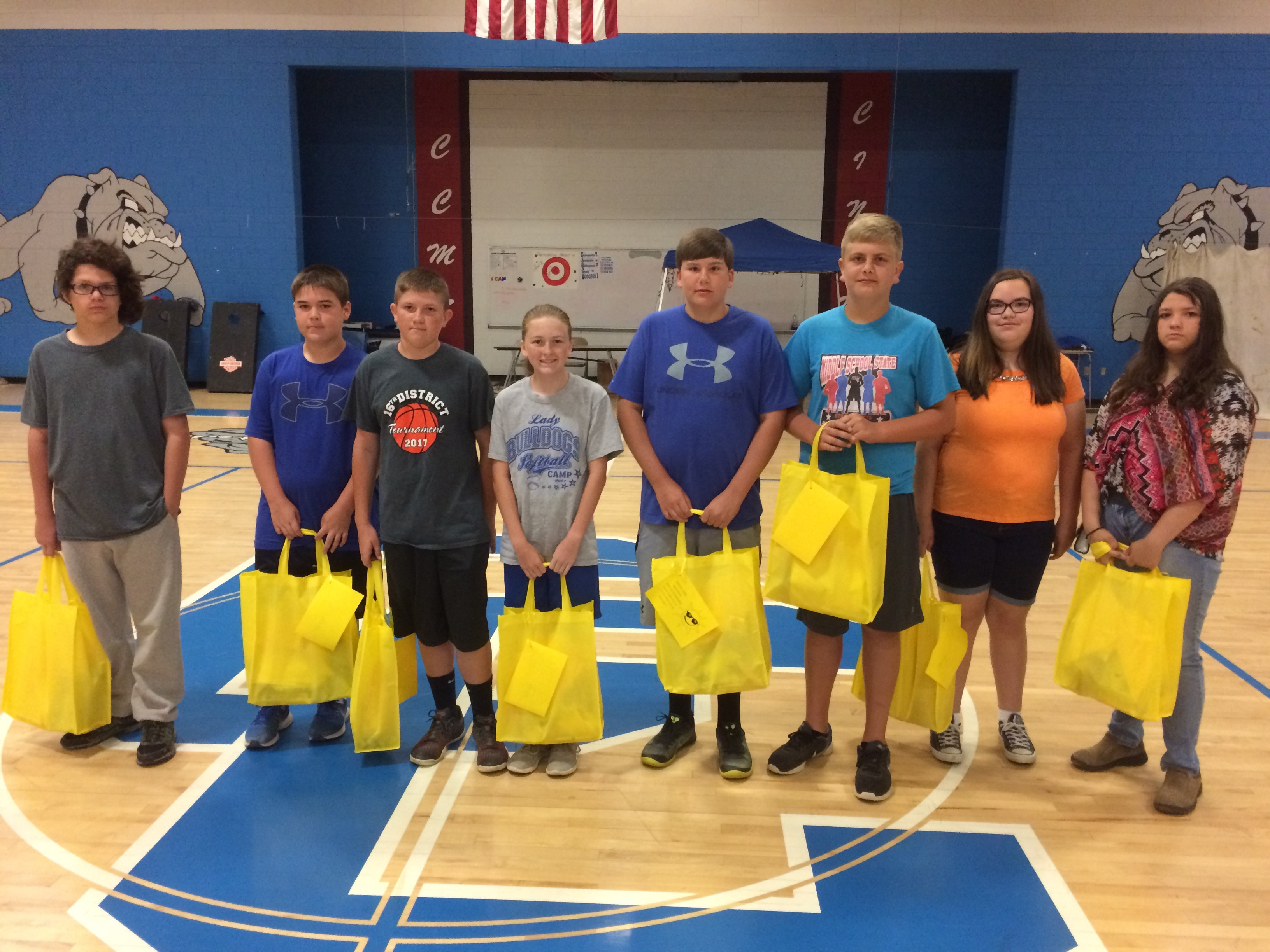 "On the last day of school, all students who had perfect attendance for the entire school year were awarded prizes, including trophies, bicycles, and ""Bags of Sunshine."""