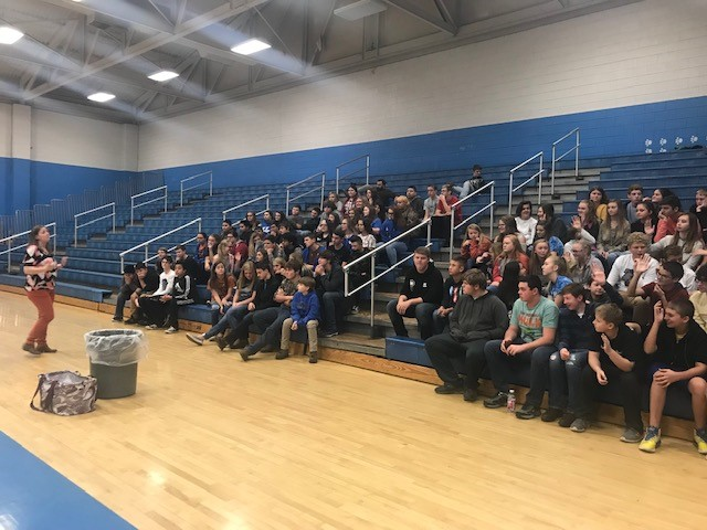 Stacy Smith addressed mindful eating and the effects of food on mental health at the November Mental Health Monday at CCMS.