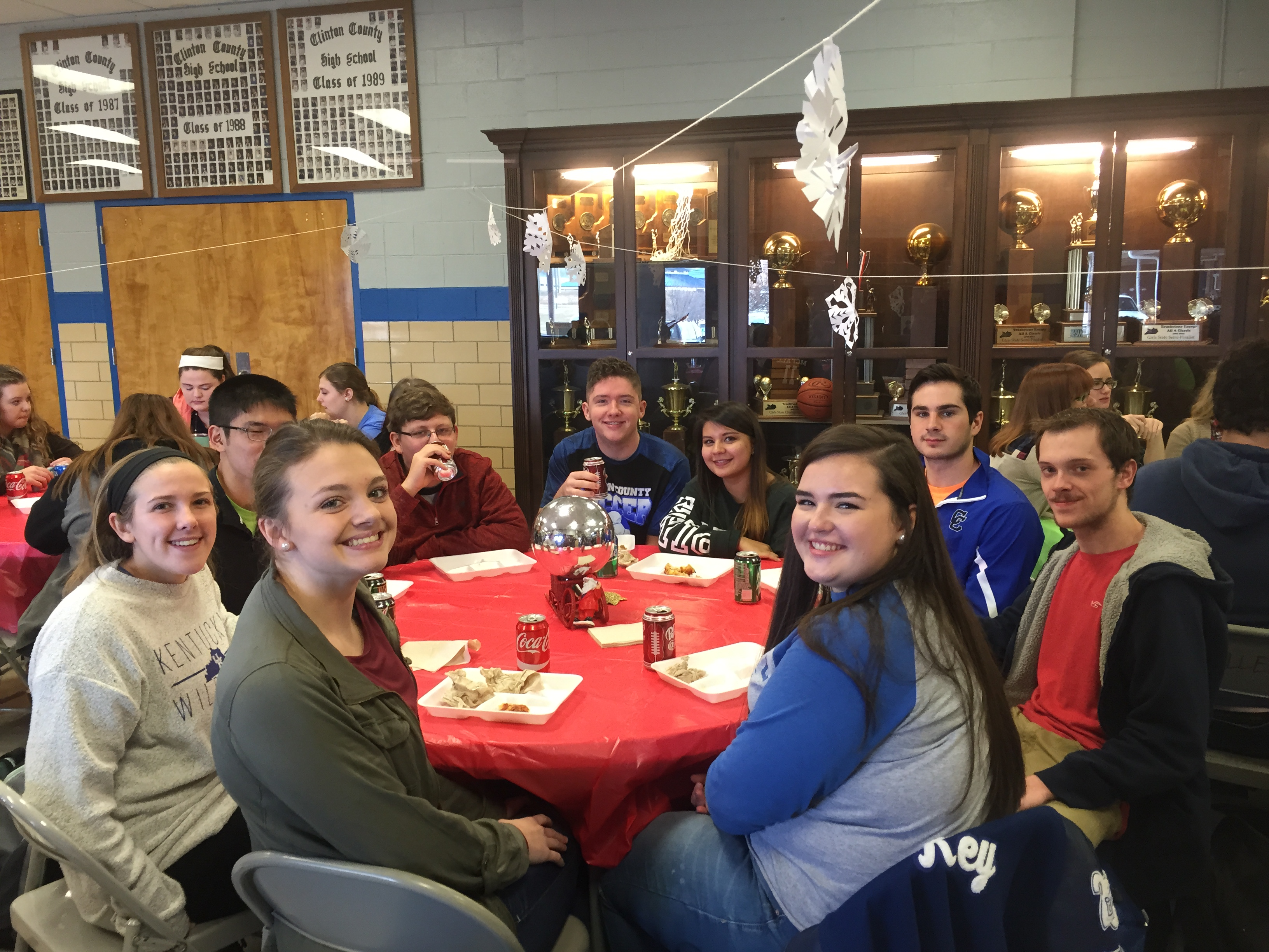 All CCHS seniors who have attained College & Career Readiness were honored at a Christmas party on December 7th.