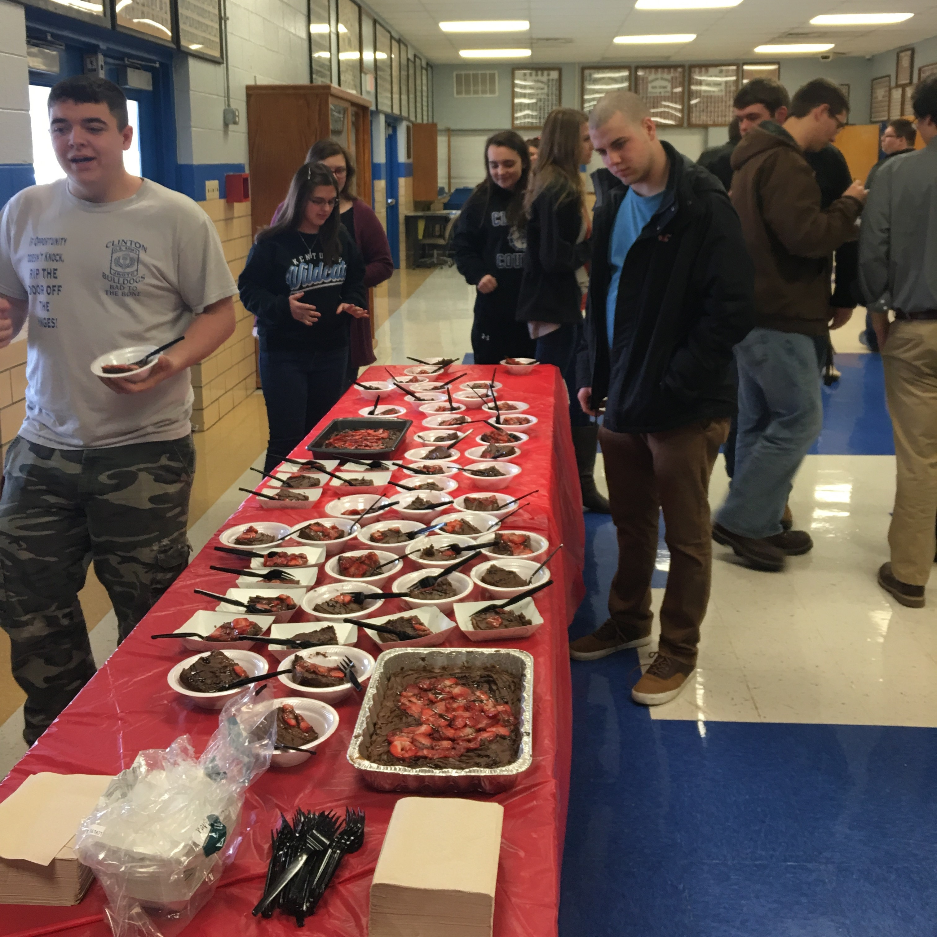 A College and Career Ready Valentine Luncheon was held on February 14th to recognize students who have attained the level of college and career readiness as reflected in their ACT scores, Compass scores, or vocational studies exams.