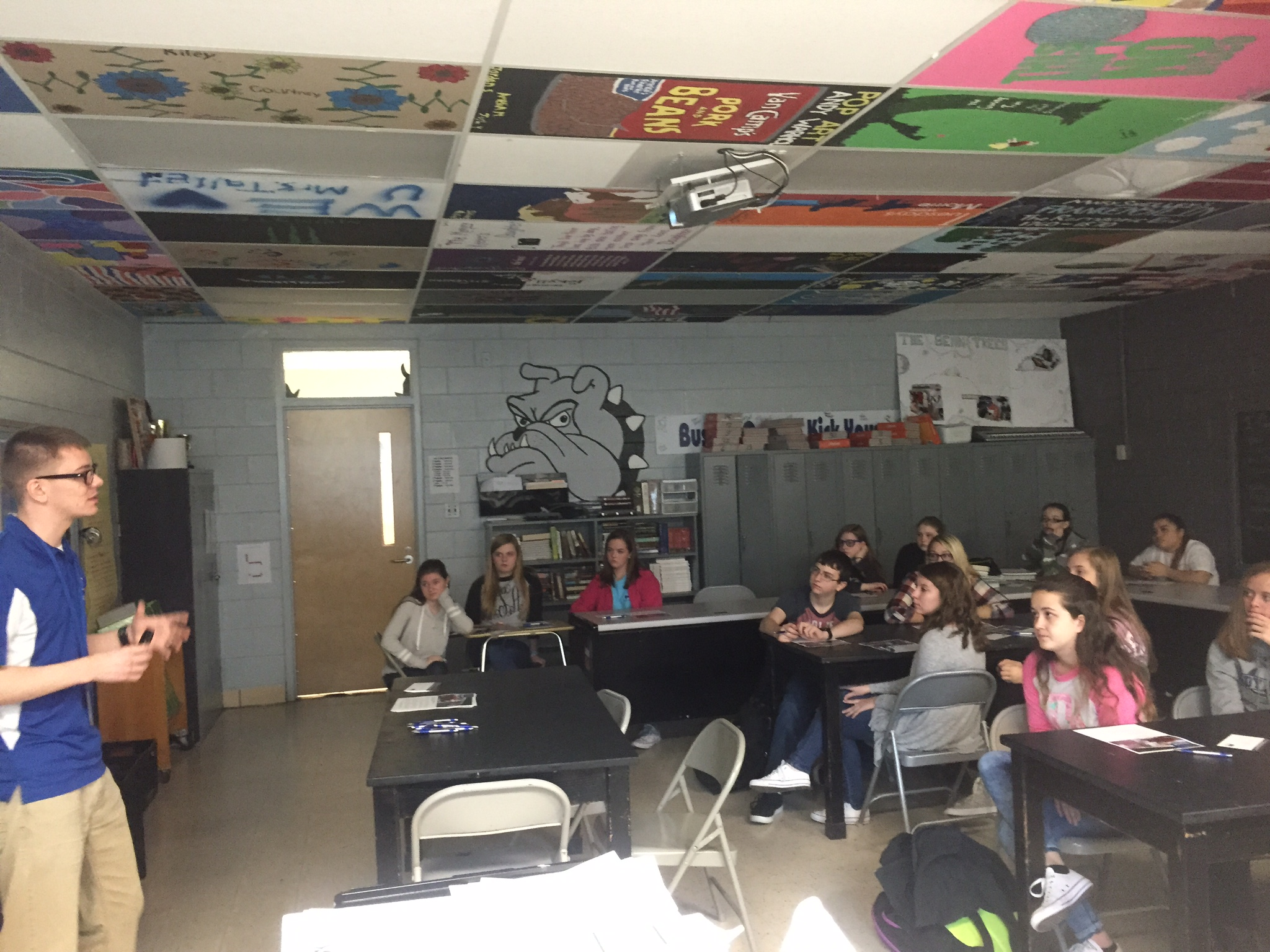 A representative from Craft Academy for Excellence in Science and Mathematics at Morehead State University visited CCHS on Tuesday, January 18th.