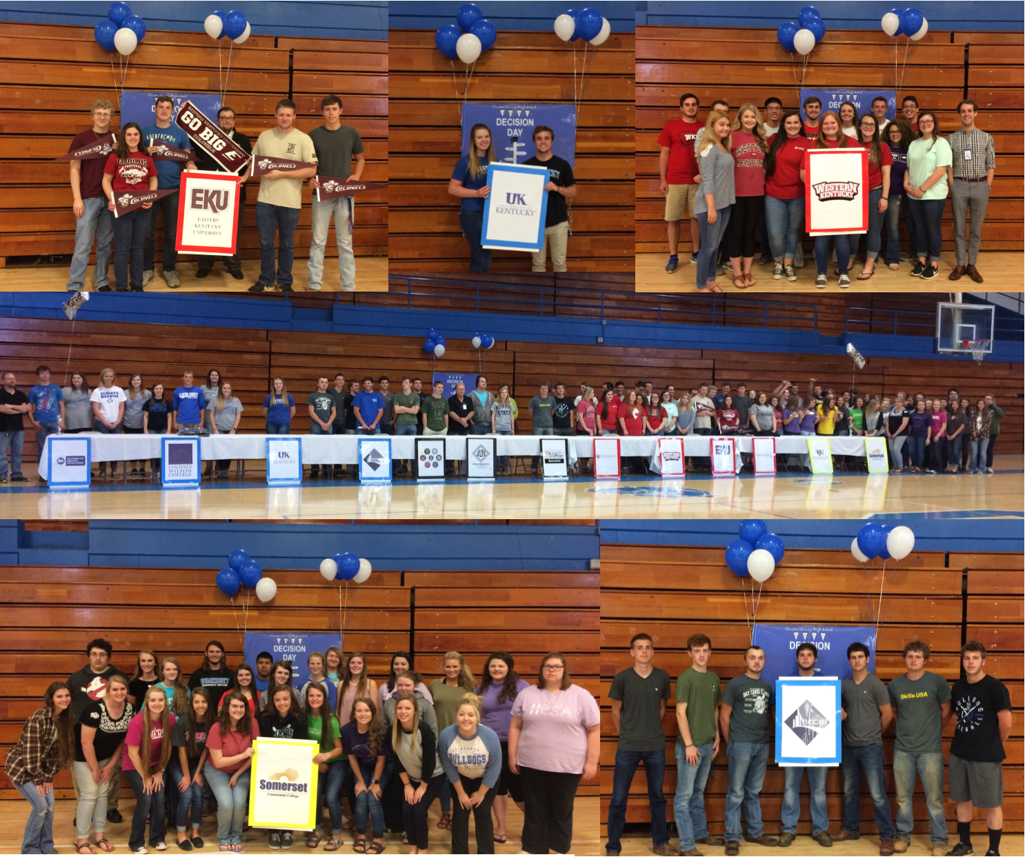 On Tuesday, May 9th, Clinton County High School honored 99 seniors who have committed to post-secondary education in their first ever Decision Day.