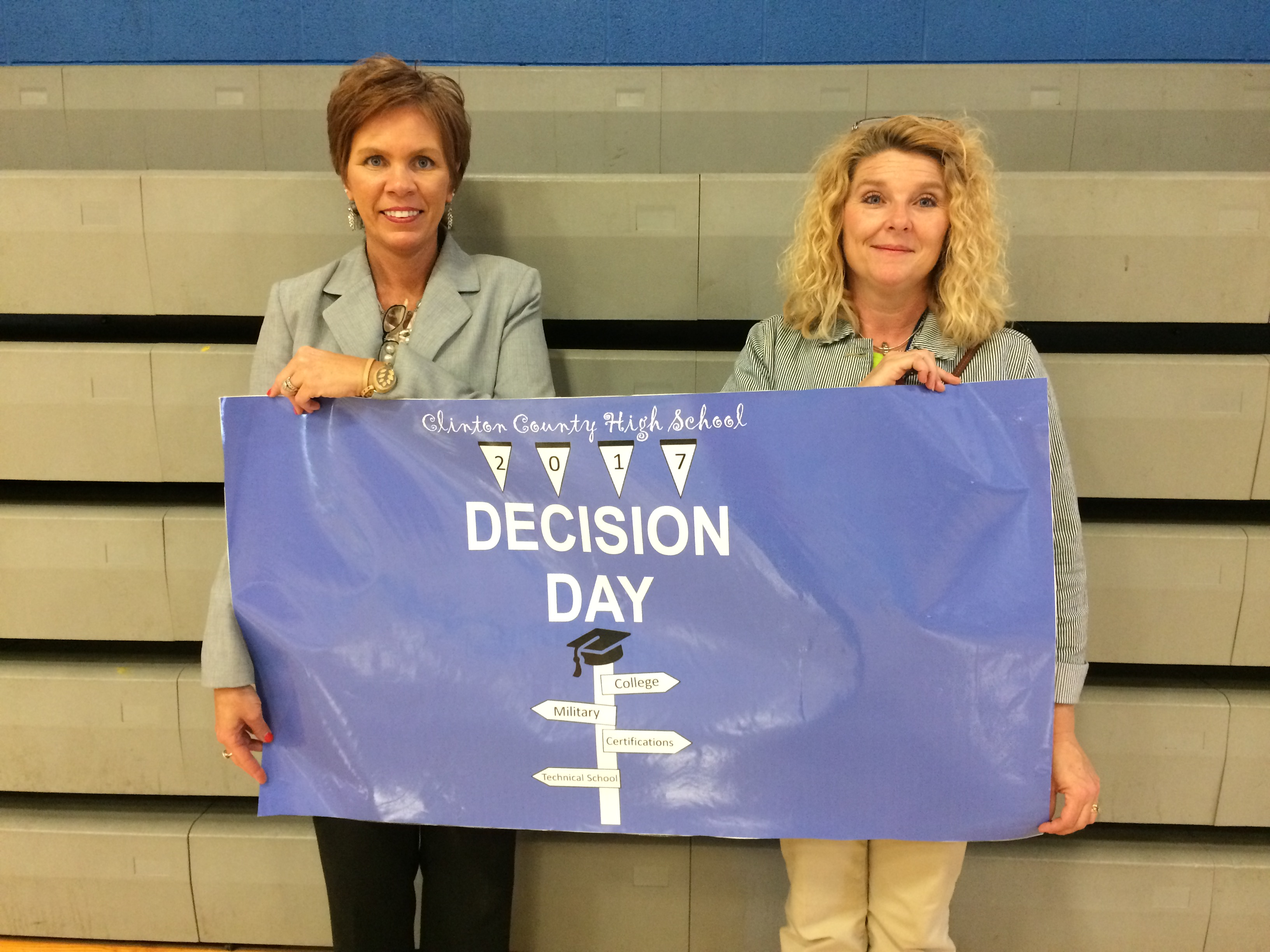 On Tuesday, May 9th, Clinton County High School honored 99 seniors who have committed to post-secondary education in the first ever Decision Day at CCHS.