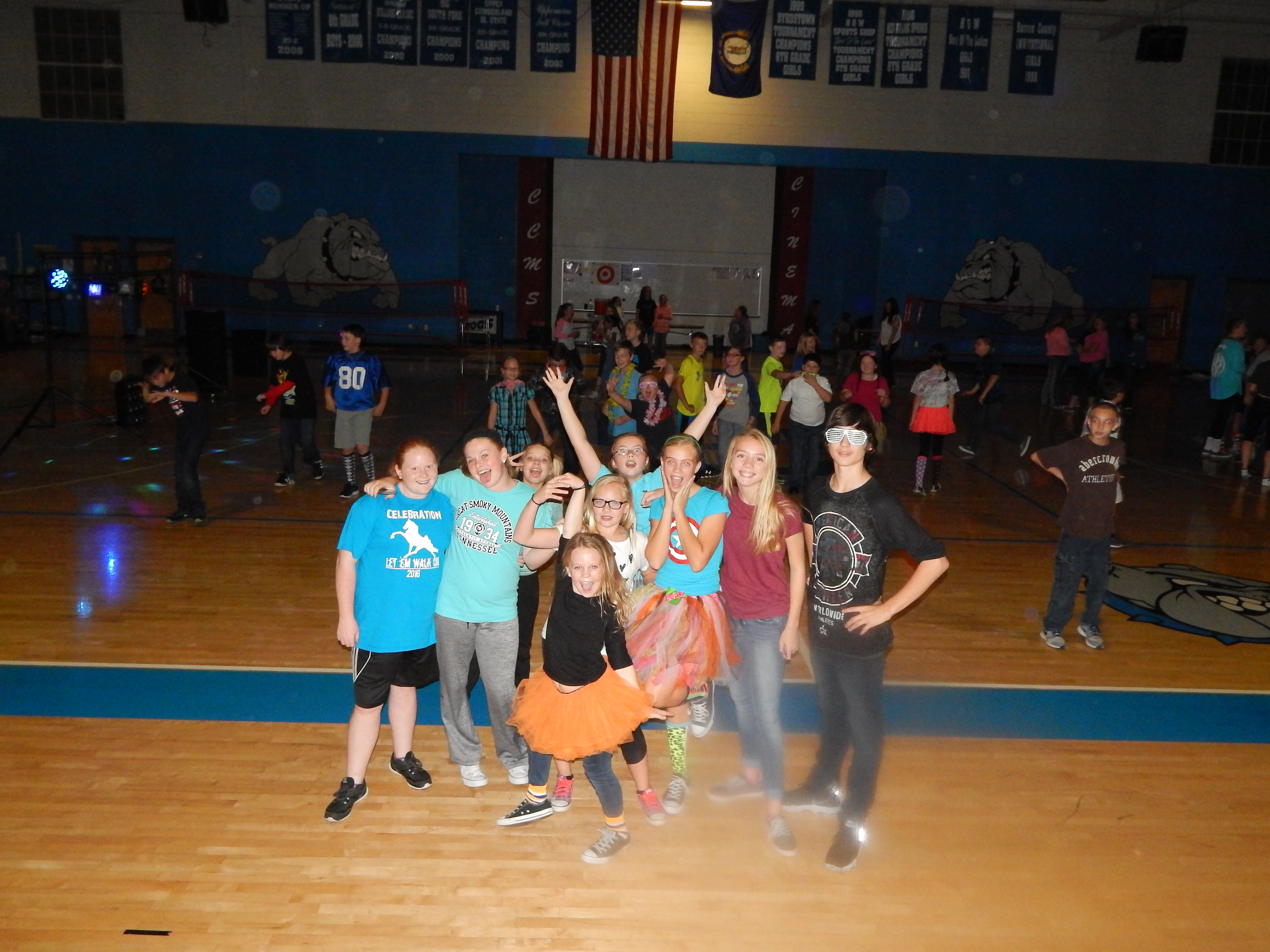 On Thursday, November 3rd, the Clinton County Middle School KUNA Club sponsored a Silly Sock Hop fundraiser event.