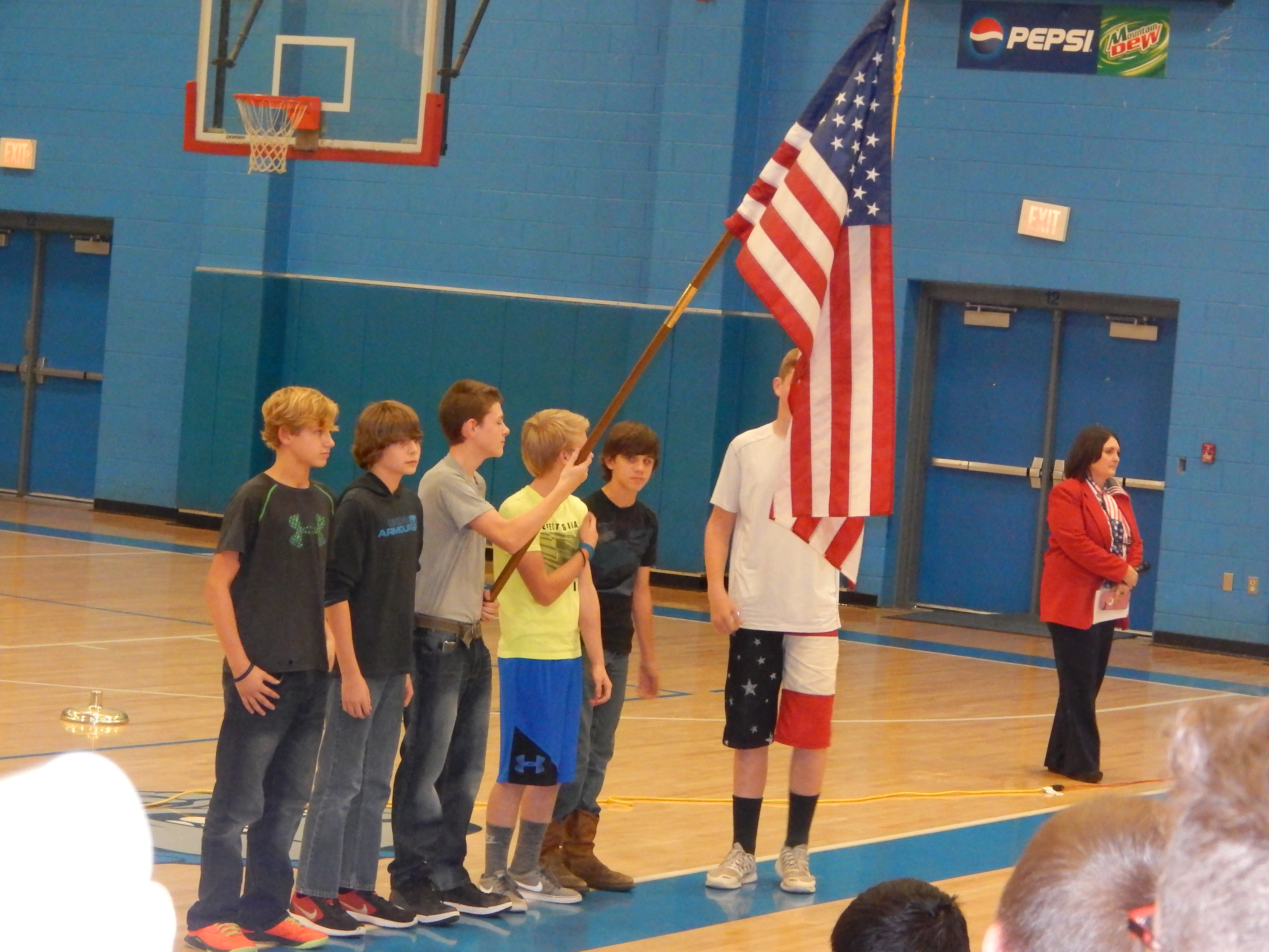 Clinton County Middle School hosted a Veterans Day Program on Friday, November 11th in honor of Veterans Day.