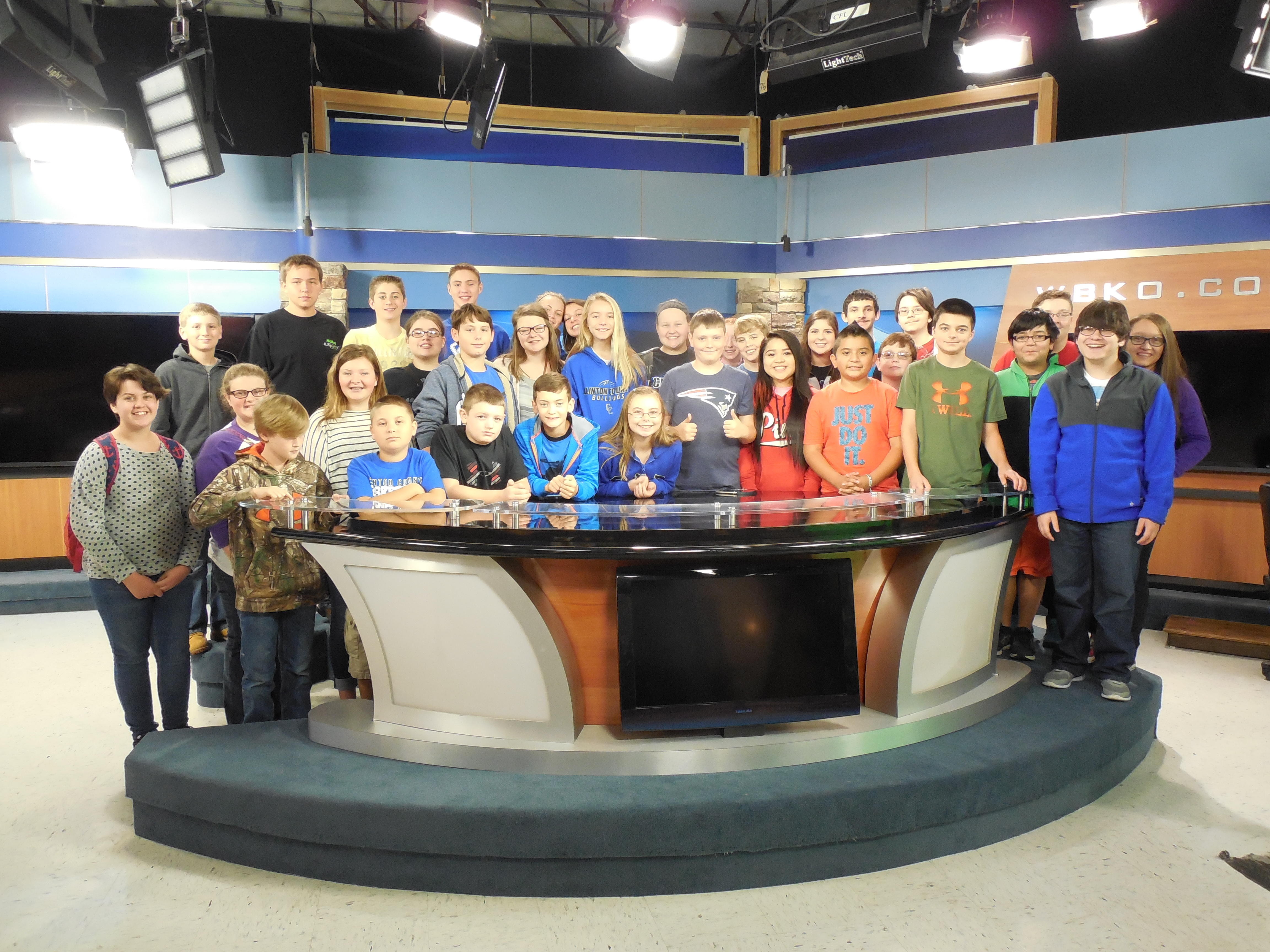 On Friday, October 28th, CCMS and CCHS students traveled to Bowling Green, Kentucky to tour the WBKO television studio.