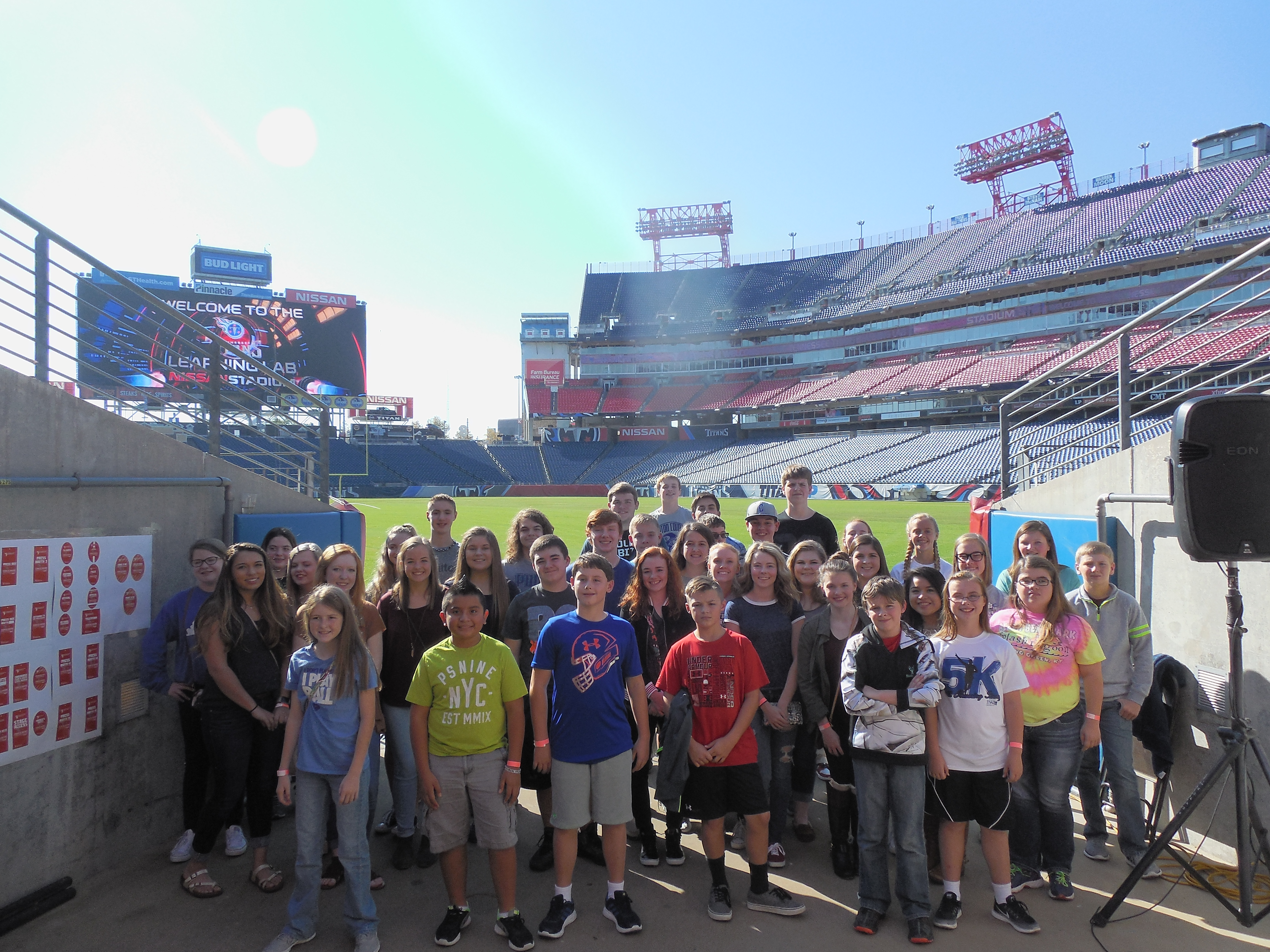 On Tuesday, November 1st, CCMS and CCHS students traveled to Nashville, Tennessee to participate in the Tennessee Titans Learning Lab.