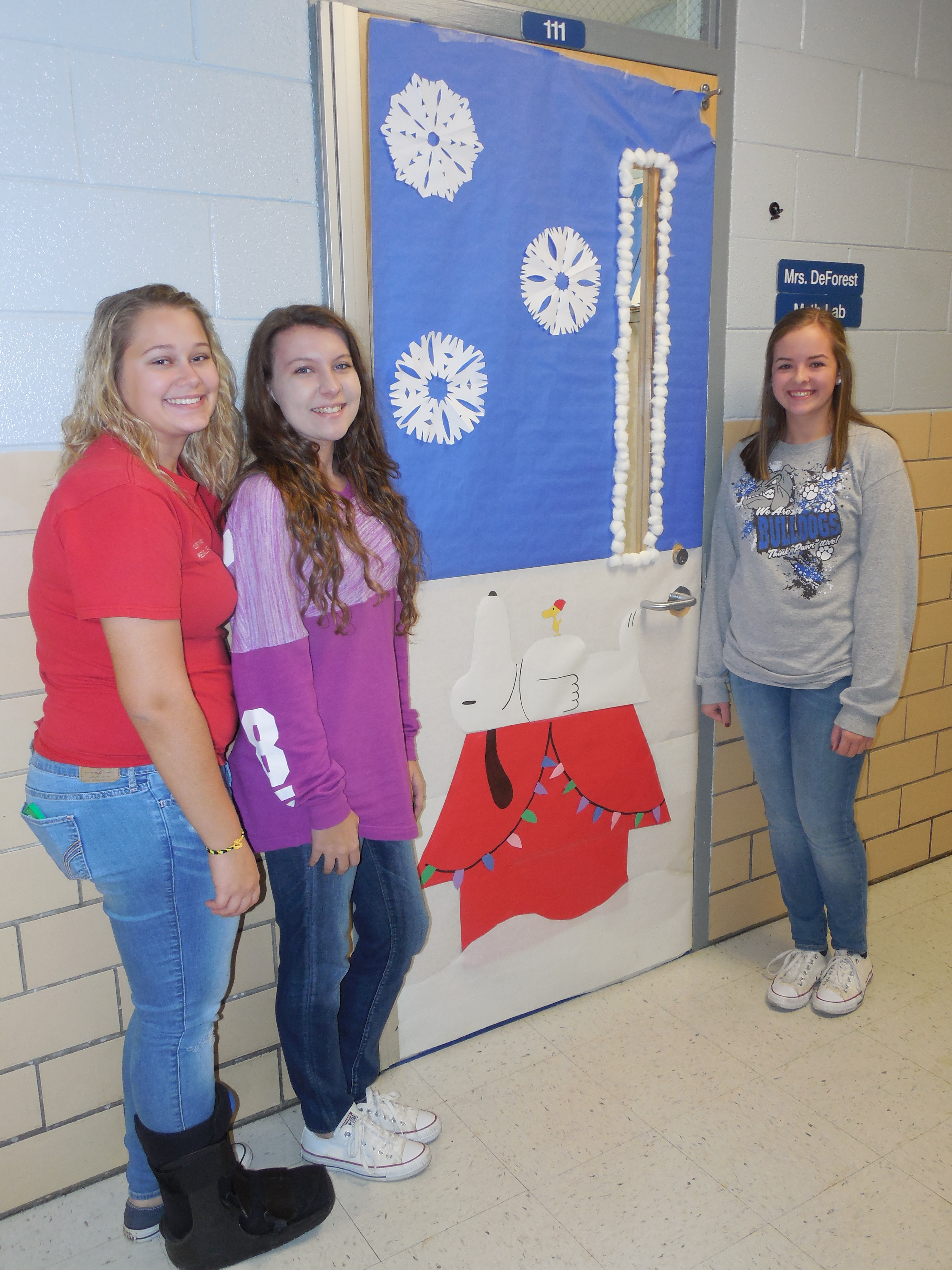 "CCHS students ""Deck the Halls"" at Christmas."