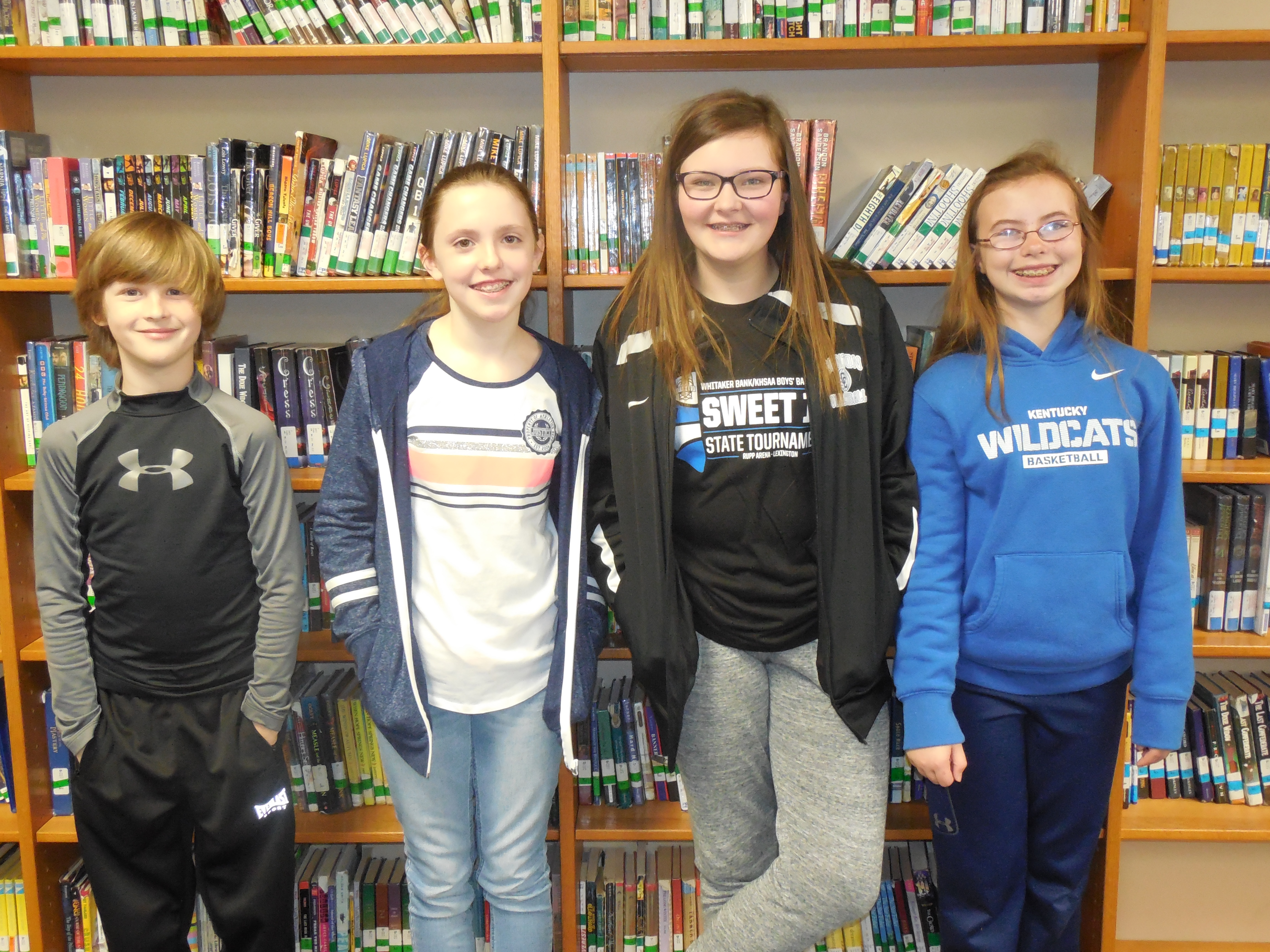 The winning team from the 5th & 6th grade competition was The JoJo Wolves.  Team members include Ian Holdiness, Jonna Upchurch, Claire Guffey, and Loren Little.