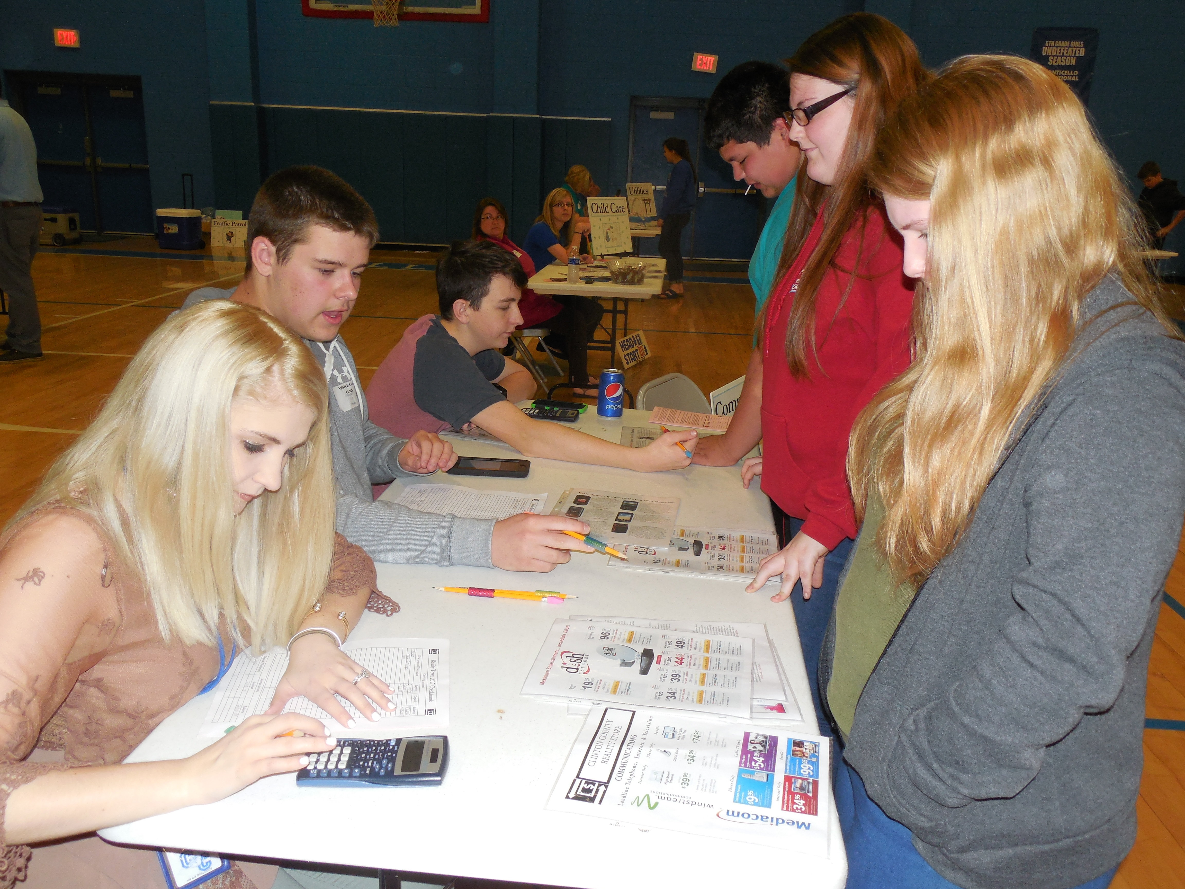 "Students got a taste of the ""Real World"" during Reality Town 2017 at Clinton County Middle School."